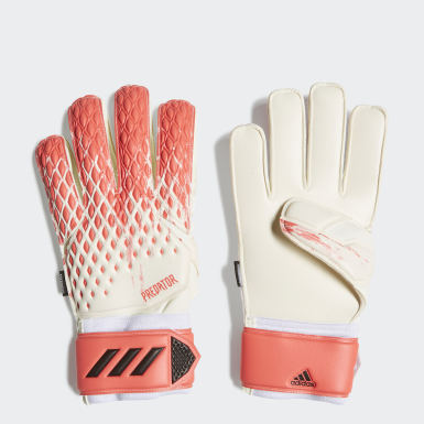 Football White Predator 20 MTC Fingersave Goalkeeper Gloves