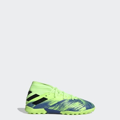 Kids 4-8 Years Football Green Nemeziz 19.3 Turf Boots