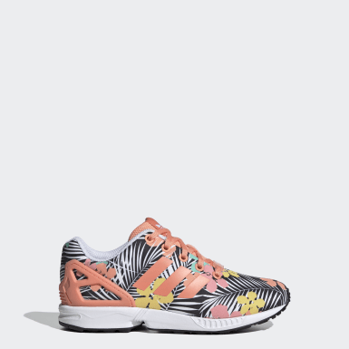 Youth 8-16 Years Originals Orange ZX Flux Shoes