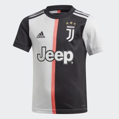 Jungen Fußball Juventus Turin Mini-Heimausrüstung Schwarz