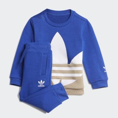 Conjunto Cuello Redondo Trifolio Grande (UNISEX) Azul Niño Originals