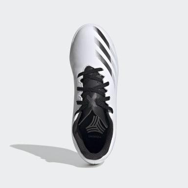 Chuteira X Ghosted.4 Futsal Branco Meninos Futebol
