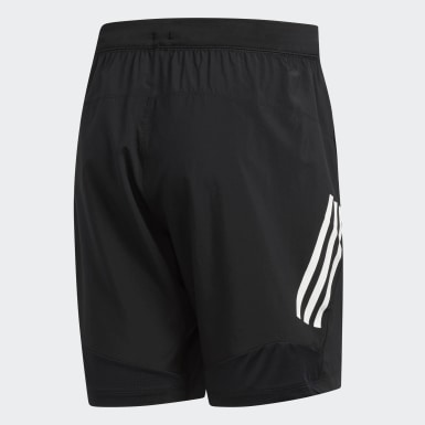 Shorts 4KRFT Tech Woven 3 rayas Negro Hombre Training