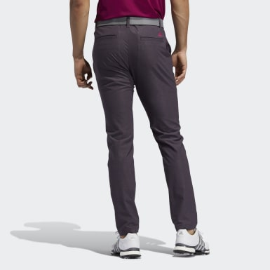 Men Olympic Sports Purple Ultimate365 Herringbone Trousers