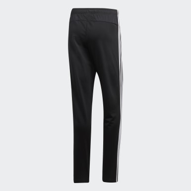 Men's Training Black Essentials 3-Stripes Tapered Pants