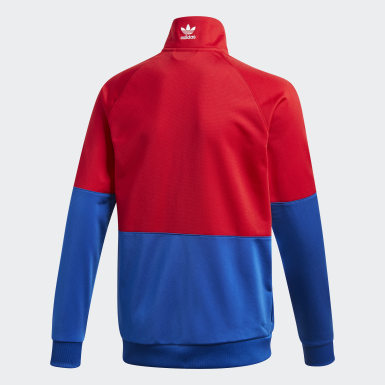 Kids Originals Red Large Trefoil Track Top