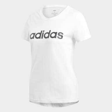 T-shirt Essentials Linear Bianco Donna Athletics