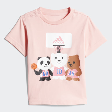 Infants Training Pink Tee and Pants Set