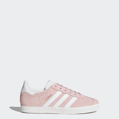 Tênis Gazelle Rosa Kids Originals