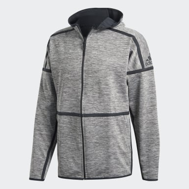 Men Athletics Grey adidas Z.N.E. Reversible Hoodie