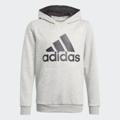 Boys Sport Inspired Grey adidas Essentials Hoodie