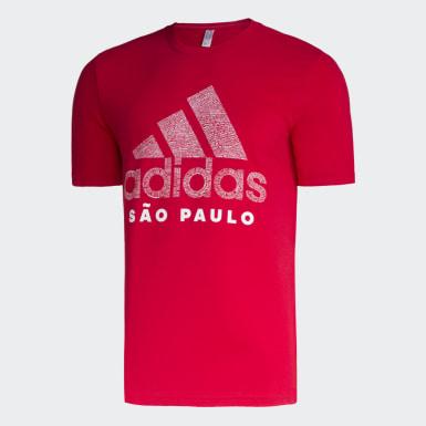 Camiseta Badge of Sport São Paulo Vermelho Homem Athletics