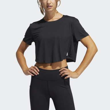 Women's Yoga Black Elevated Training Tee