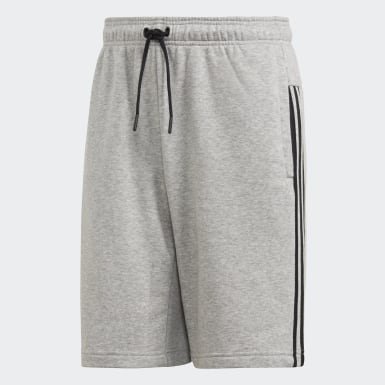 Shorts Must Haves 3 Tiras Felpa Francesa Plomo Hombre Athletics