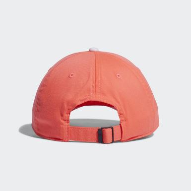 ผู้หญิง กอล์ฟ สีชมพู หมวกแก๊ปผ้าทวิล