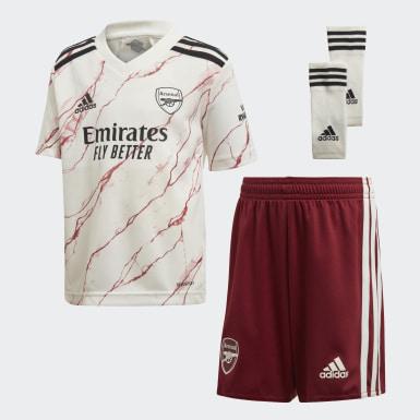 Minikit Alternativo 20/21 do Arsenal Branco Criança Futebol