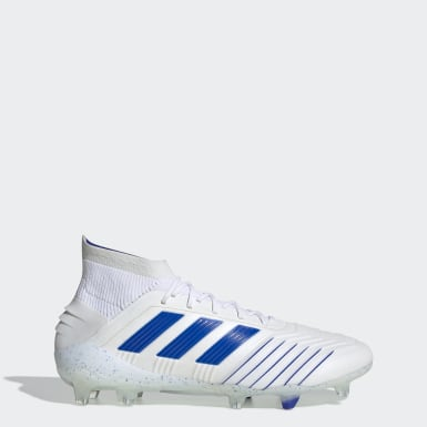 Football White Predator 19.1 Firm Ground Boots