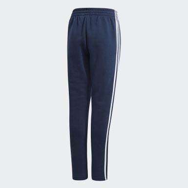 Spodnie z polaru Essentials 3-Stripes Niebieski