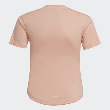 Mädchen Training Cotton T-Shirt Rosa