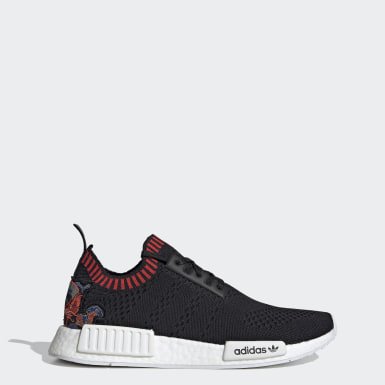 Men's Originals Black NMD_R1 Primeknit Shoes