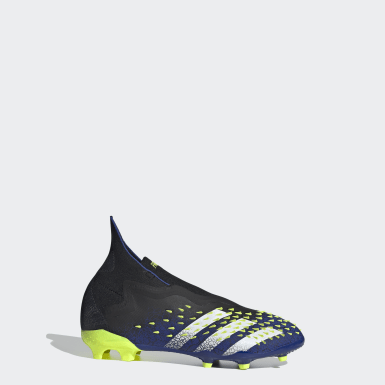 Boys Fotboll Svart Predator Freak+ Firm Ground Boots