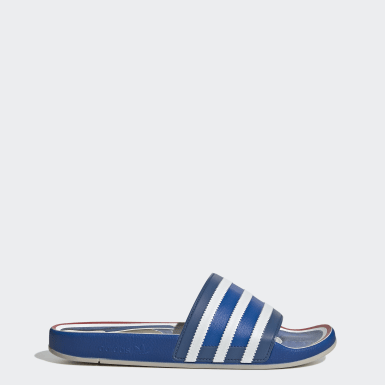Men's Originals Blue Adilette Premium Slides