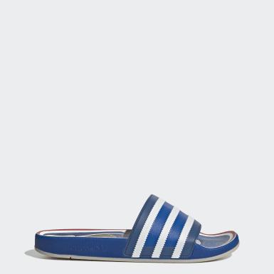 Muži Originals modrá Pantofle Adilette Premium