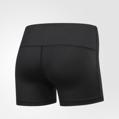 Women's Volleyball Black Four-Inch Short Tights