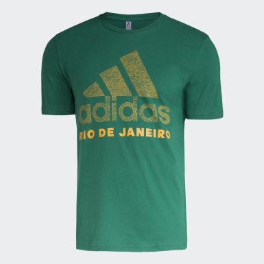 Camiseta Badge of Sport Rio de Janeiro Verde Homem Athletics