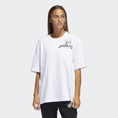Women Athletics White Graphic Tee (Plus Size)