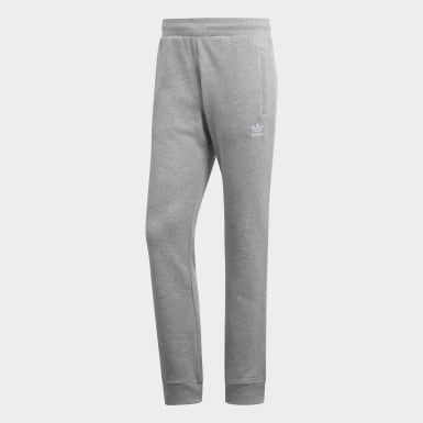 Muži Originals šedá Kalhoty Trefoil Essentials