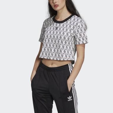 T-shirt adidas Cropped Nero Donna Originals