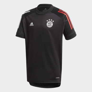 Youth 8-16 Years Football Black FC Bayern Training Jersey