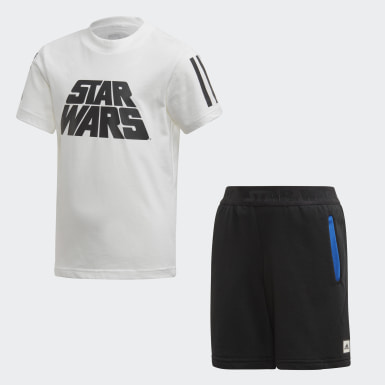 Conjunto verano Star Wars Blanco Niño Training