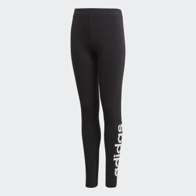 Girls Athletics Black Essentials Linear Leggings