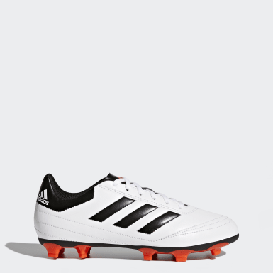 Zapatos de fútbol para césped natural seco Goletto 6 Blanco Niño Fútbol