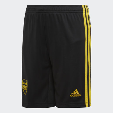 Youth 8-16 Years Football Black Arsenal Third Shorts