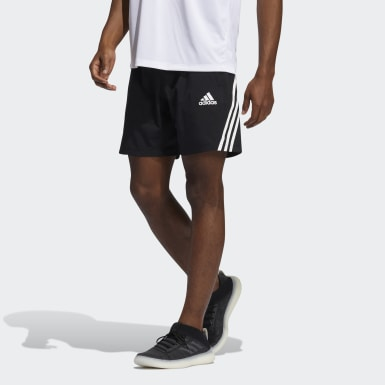 Men's Training Black AEROREADY 3-Stripes 8-Inch Shorts