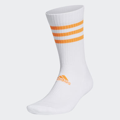 Training White 3-Stripes Cushioned Crew Socks