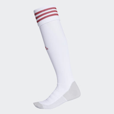 Soccer White AdiSocks Knee Socks