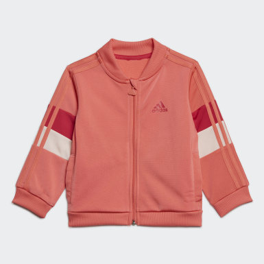 Kids Training Red Shiny Track Suit