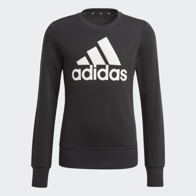 Girls Sport Inspired Black Essentials Sweatshirt