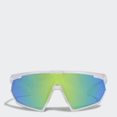 Padel Tennis Hvid SP0001 Shiny Black Injected Sport solbriller