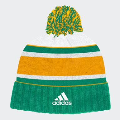 Men Hockey Green Minnesota North Stars Cuffed Knit Pom Hat