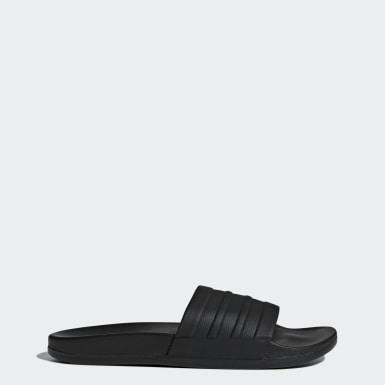 ผู้หญิง ว่ายน้ำ สีดำ รองเท้าแตะแบบสวม adilette Cloudfoam Plus Mono