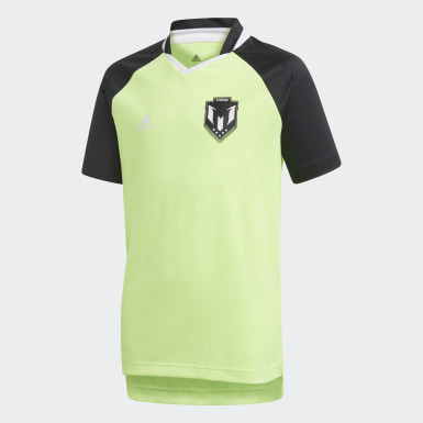 Boys Training Green Messi Icon Jersey