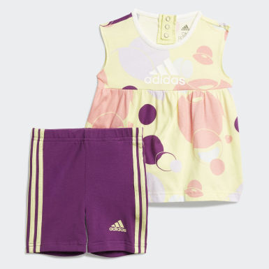 Girls Training Yellow Style Summer Set