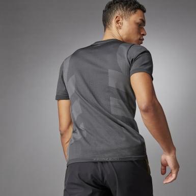 T-shirt Studio Techfit Seamless Short Sleeve Noir Hommes Studio