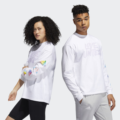 T-shirt Pride Unites Long Sleeve (Non genré) Blanc Athletics