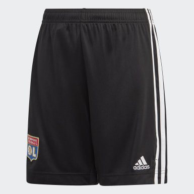 Pantalón corto segunda equipación Olympique de Lyon Negro Niño Fútbol